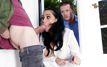 Lustful neighbors fucked hard busty wife