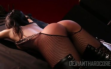Dirty whore Cindy Starfall is fucked and punished nescient BDSM room