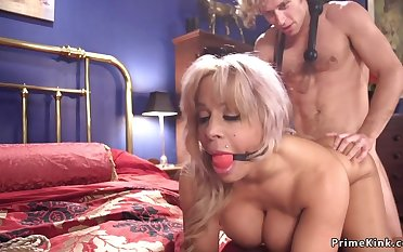 Huge breast Mommy had intercourse in bondage