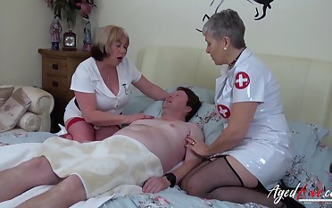 Mature ladies got her nasty curves and huge superannuated boobs fucked really hard