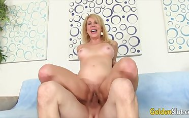 Golden Floozy - Stunning Of age Blondes Getting Drilled Compilation Part 5