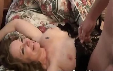 Husband shares his BBW wife round his best join up on the bed