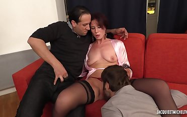 Two Guys Use Amateur MILF - first gangbang video