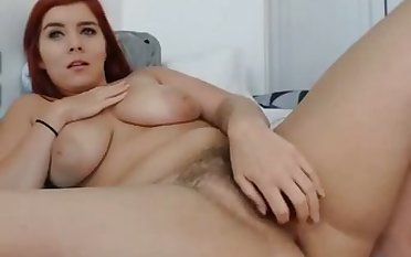 This redhead is such a luscious tolerant and her soft pussy is hot to look at