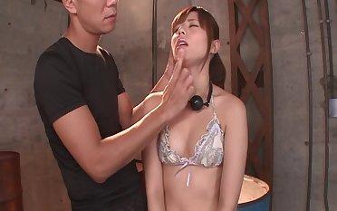 Kinky girlfriend Rina Rukawa loves to lick feet during sexual intercourse - compilation
