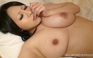 Chubby Asian wife Hana Nonoka licked and fucked in the hotel room