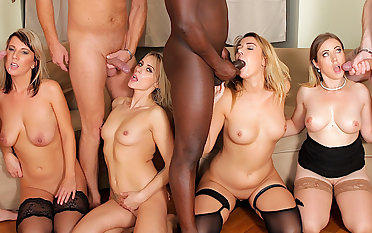 Four Blonde Anal Whores Get Their Holes Annihilated in an IR Anal Orgy