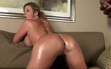 Hot MILF there big, massive tits rides BBC