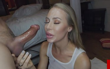 Nicole Aniston sexually attractive blond see red lassie