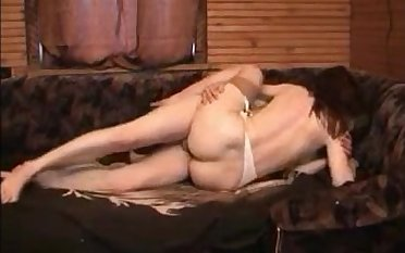 Horny milf wife in lingerie fucking her boytoy