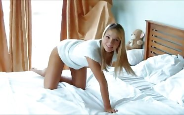 This blonde is always down for some morning fuck with the addition of I love how sensual she is
