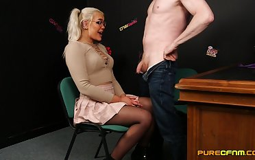 Comely Gina Varney is a girl who never says no when giving head