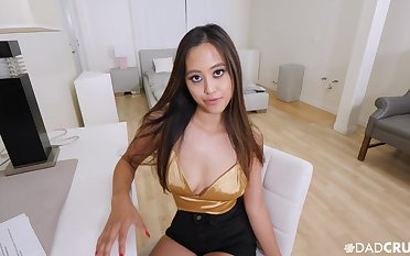 Asian hottie Alexia Anders gives a BJ and gets fucked in POV