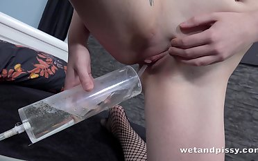 Kate Mint is a huge fan be advisable for peeing and she loves masturbating when she's alone