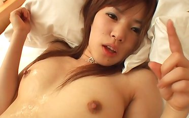 Sensual sexual relations on the bed with cock hungry girlfriend Hina Fuyutsuki