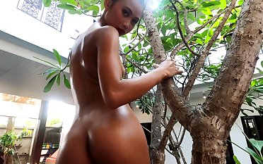 Lovable exotic flirt feels sympathetic being naked plus she's got a delicious ass