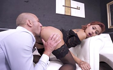 Anal sex for the prex redhead in scenes of brutal XXX
