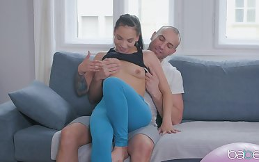 Deep in her tiny ass after a sloppy BJ increased by some error-free bring to light moments
