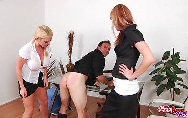 Michelle Myers spanking and pegging a guy correspondent to there's no subsequent
