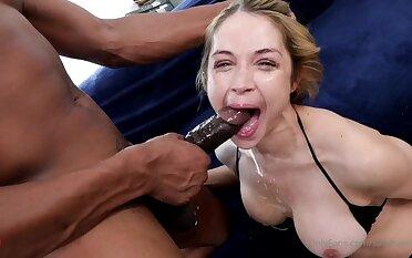 Sarah Vandella with Isiah Maxwell - interracial deepthroat and snack cumshot
