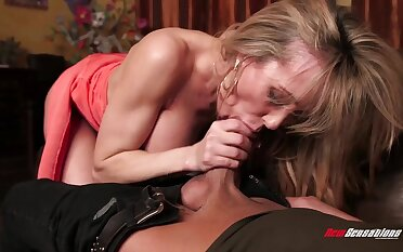 Wow cougar Brandi A torch for helps her frustrated stepson connected with playtime