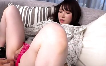 Asian japanese plays forth anal toys