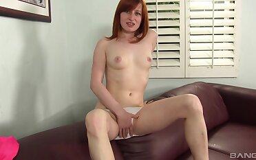 Redhead tyro Kira Lake drops her panties to be fucked bottomless gulf