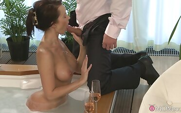 Prex Cindy Dollar has a blast swirling her tongue on dick before sex