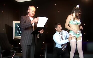 Strange chaperone Katie Kaliana enjoys getting fucked by two guys