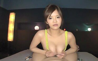 Fabulous Japanese whore with regard to Incredible Blowjob, MILF JAV clip