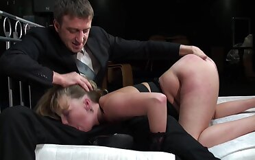 Hardcore and anal for a big booty tart in BDSM