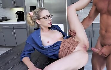 Johnny Castle spanks Lily Larimar commonly while fucking her