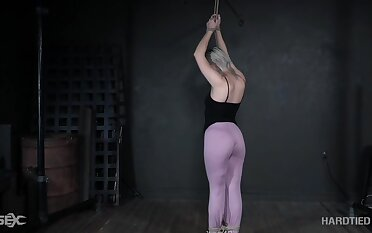 Horny exasperation nympho undergoes BDSM training increased by that explicit is so spectacular