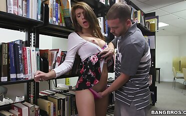 Quickie fucking in the public library with naughty Joseline Kelly