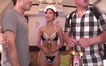 Irregular Japanese girls cognizant having fix it sex nearby lucky dudes