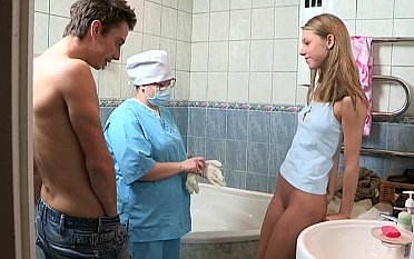 Horny couple having sex right after the medical check-up