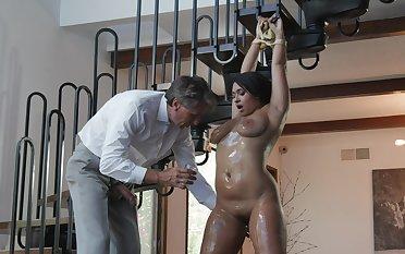 Latina milf with saggy tits, impressive dominance