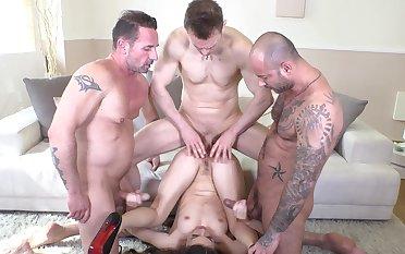 Tiffany Doll goes hardcore with three males