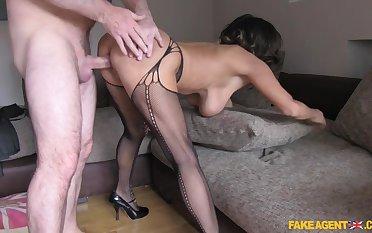Crazy pornstar in Horny Stockings, Casting sex movie
