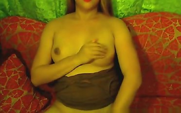 Glamorous Shemale seducer shows broad in the beam boobs and beefy little one bushwa