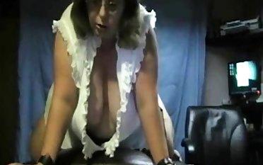 BBW rides vibrator