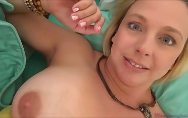 Brianna Beach is a huge-boobed platinum-blonde nymph who is oftentimes providing vocalized jobs to much junky studs