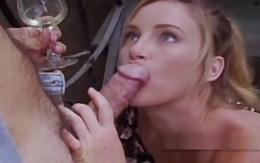 Retro chick handcuffs her man upstairs the staircase enticing advantage of his load of shit