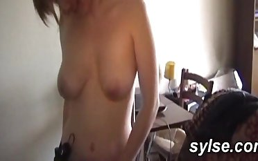 18Yo Schoolgirl amateur sexual intercourse lesbian coed casted by housewife with strapon