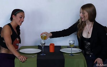 Ela Sweetheart gets her racy pussy eaten unconnected with a lesbian girl Mischa Brooks
