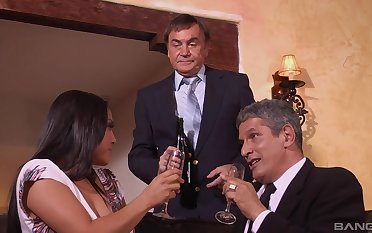 Business dinner ends later on MILF Adriana Luna gets her bosses cum